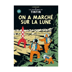 CARTE POSTALE COUVERTURE - ON A MARCHE SUR LA LUNE