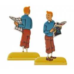 TINTIN RELIEF - TINTIN AU JOURNAL