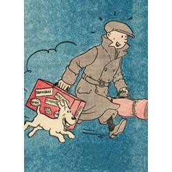 CHEMISE EN PLASTIQUE A4 - PETIT 20E OREILLE CASSEE 1935 TINTIN