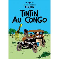 POSTER CV01 -  TINTIN AU CONGO  - 70X50CM