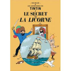 POSTER CV10 - LE SECRET DE LA LICORNE - 70X50CM