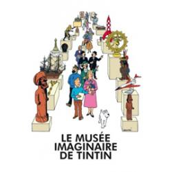 """POSTER """"LE MUSEE IMAGINAIRE DE TINTIN """" - 40X60CM"""