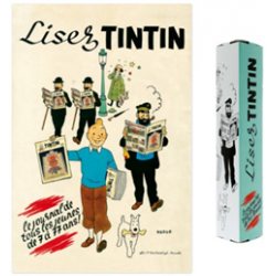 "POSTER ""LISEZ TINTIN"" - 40X60CM"