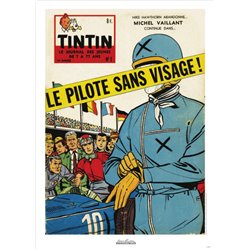 AFFICHE MICHEL VAILLANT & LE JOURNAL TINTIN 1959 N°01