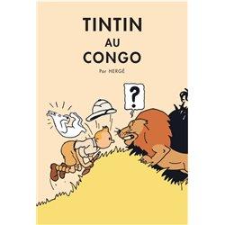 POSTER CV01 - TINTIN AU CONGO ANCIENNE- 70X50CM