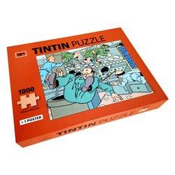 PUZZLE - AVEC TINTIN, EN APESANTEUR - 1000 PIECES