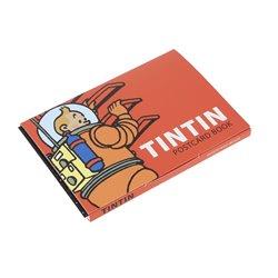 SET 16 CARTES TINTIN LUNE (POSTCARD BOOK)