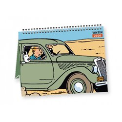 CALENDRIER A POSER TINTIN VOITURES 2020