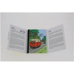 SET 16 CARTES TINTIN LES VOITURES (POSTCARD BOOK)