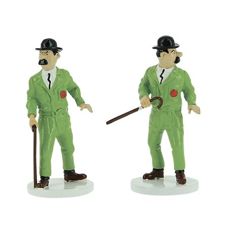 FIG. METAL - SERIE LUNE TINTIN - 7 PERSONNAGES
