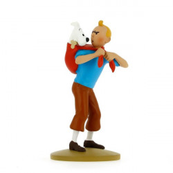FIGURINE RESINE (COLLECTION 12CM) - TINTIN RAMENE MILOU
