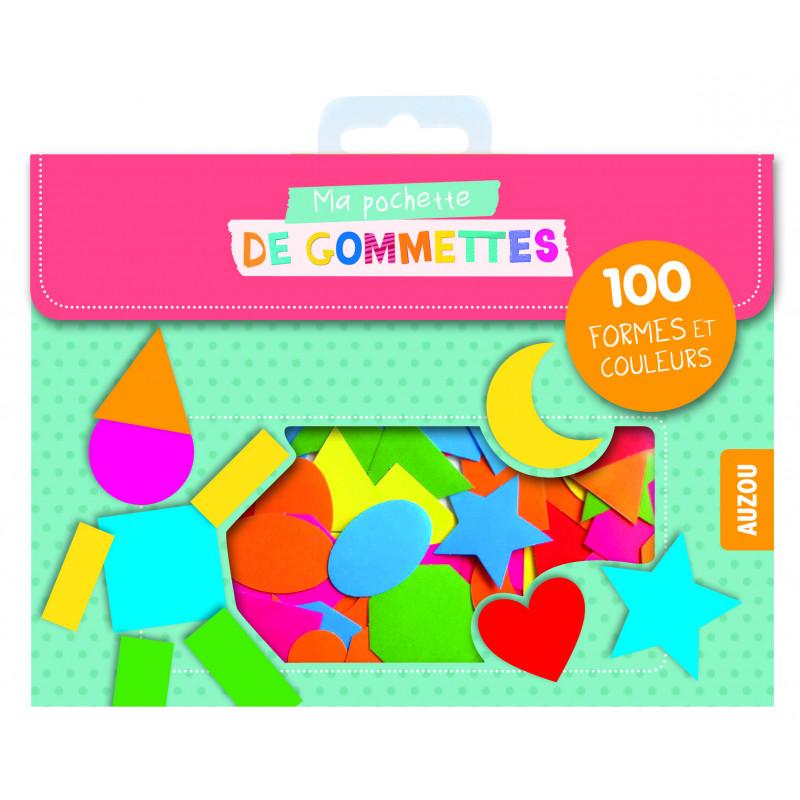 MA POCHETTE DE GOMMETTES - 100 GOMMETTES FORMES ET COULEURS