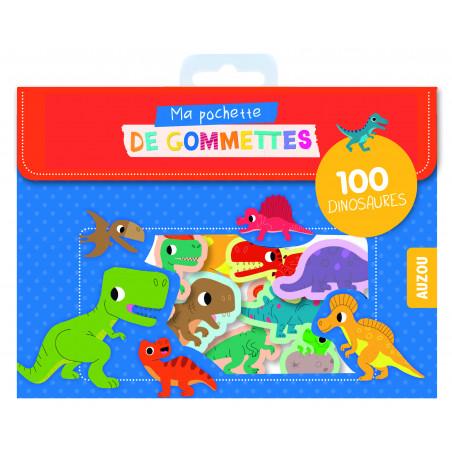 MA POCHETTE DE GOMMETTES - 100 GOMETTES DINOSAURES