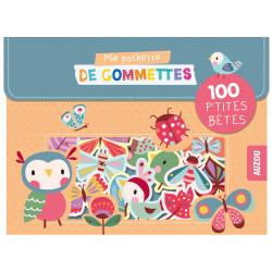 MA POCHETTE DE GOMMETTES - 100 GOMMETTES LES P'TITES BÊTES