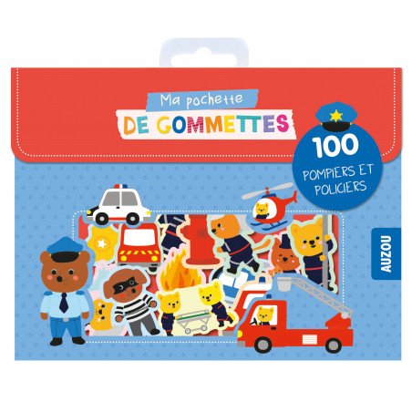 MA POCHETTE DE GOMMETTES - 100 POMPIERS ET POLICIERS