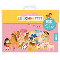 MA POCHETTE DE GOMMETTES - 100 PONEYS ET LES CHEVAUX