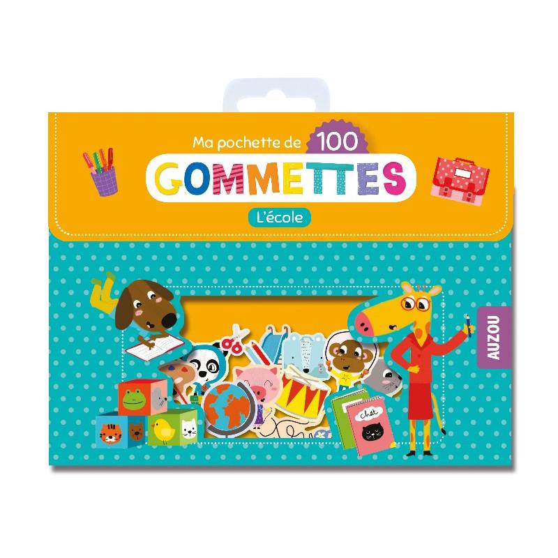 MA POCHETTE DE 100 GOMMETTES - L'ÉCOLE