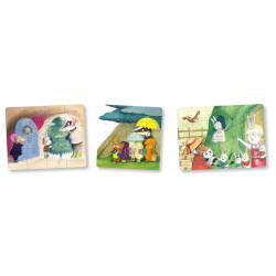 MES 3 PUZZLES EN BOIS - PETITE TAUPE