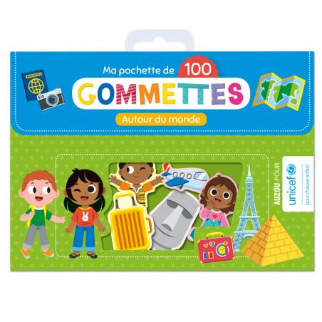 MA POCHETTE DE 100 GOMMETTES - AUTOUR DU MONDE
