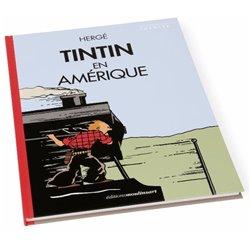 TINTIN AMERIQUE -COLORISE- LOCOMOTIVE